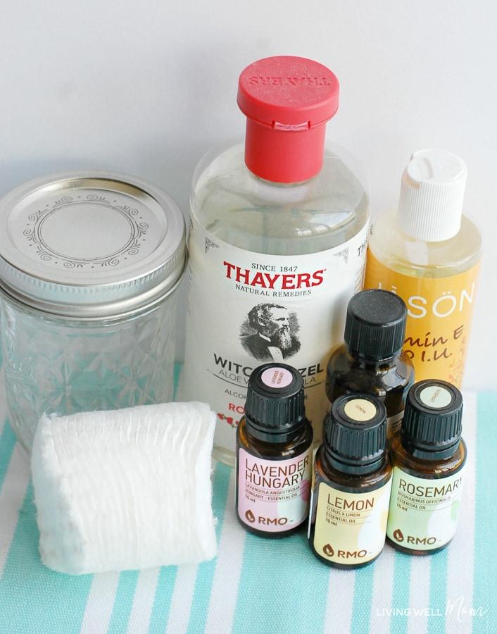 DIY Facial Toner Pads with Essential Oils