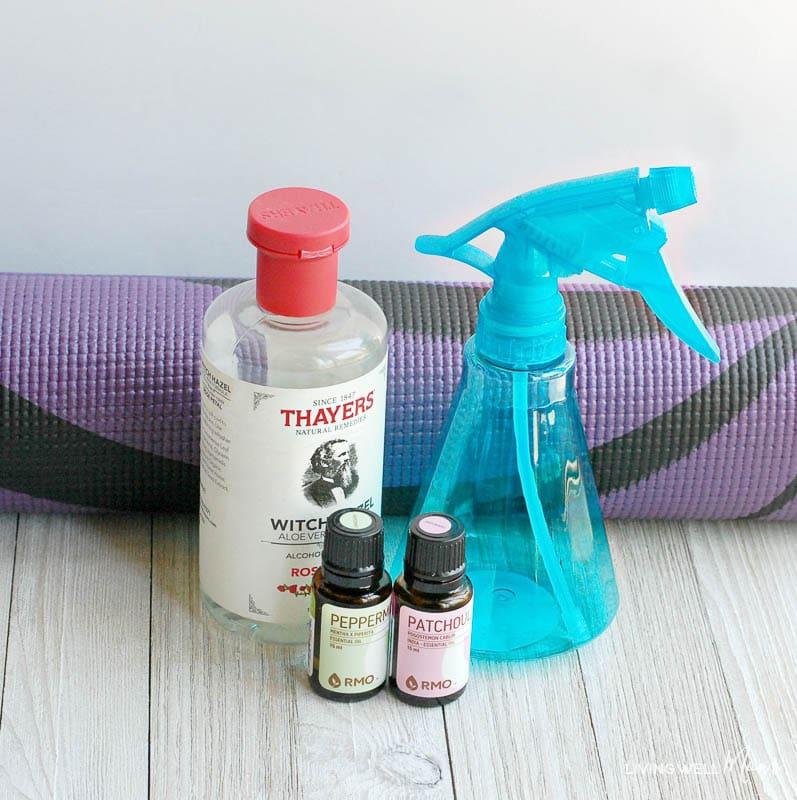 Ingredients for DIY Yoga Mat Spray