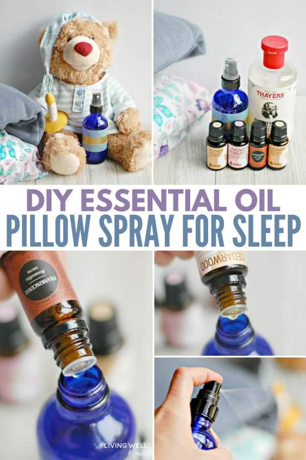 DIY Essential Oil Pillow Spray for Sleep