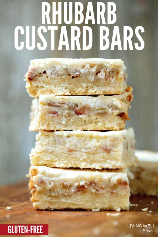 Gluten-Free Rhubarb Custard bars recipe