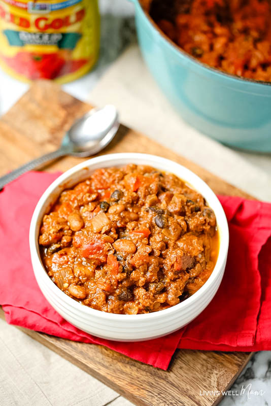 easy pumpkin chili one-pot dinner recipe