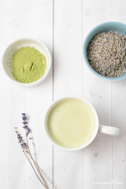 Lavender Matcha Green Tea Latte