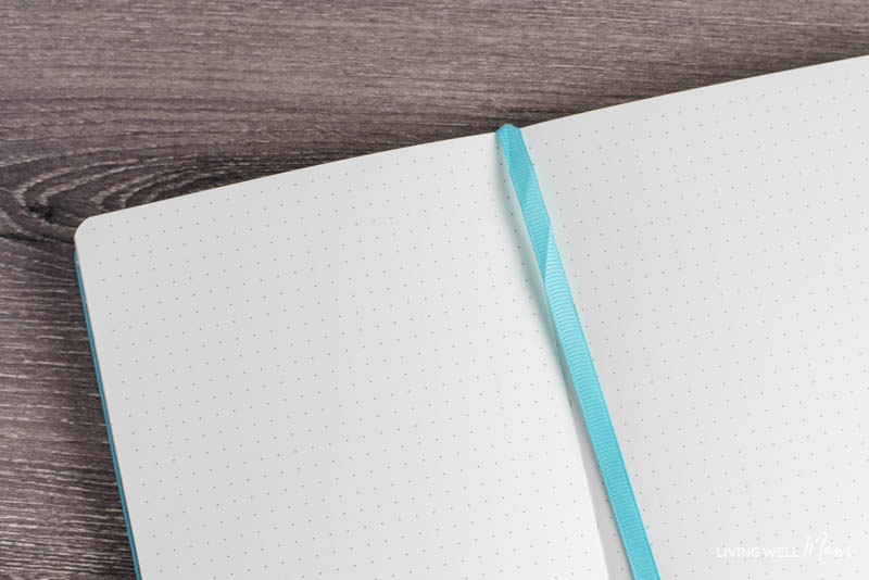 bullet journal with dotted grids