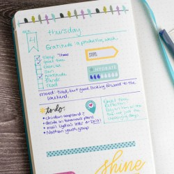 sample bullet journal ideas page layout
