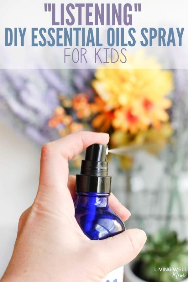 Listening DIY Essential Oil Spray for Kids