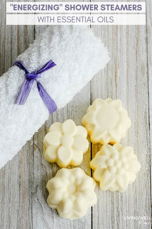 energizing homemade shower steamers with essential oils