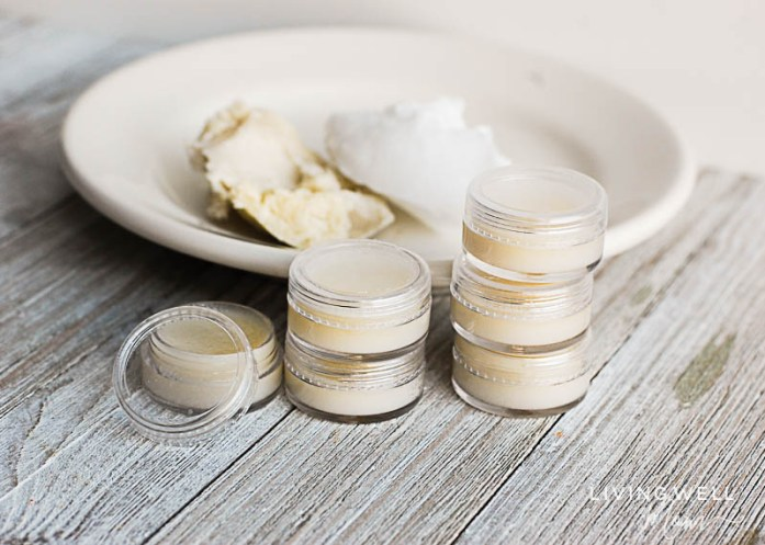 homemade cuticle butter in small containers