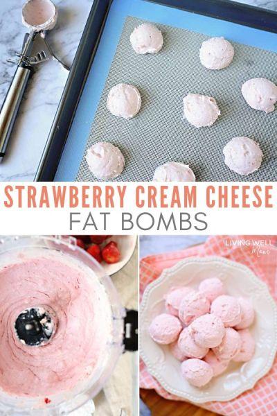 strawberry cream cheese fat bombs