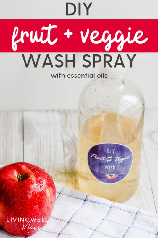 DIY fruit and veggie spray with apple