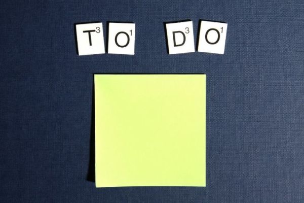 to do post it note for back to school