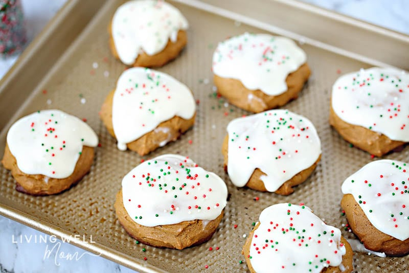 frosted gluten-free ginger cookies
