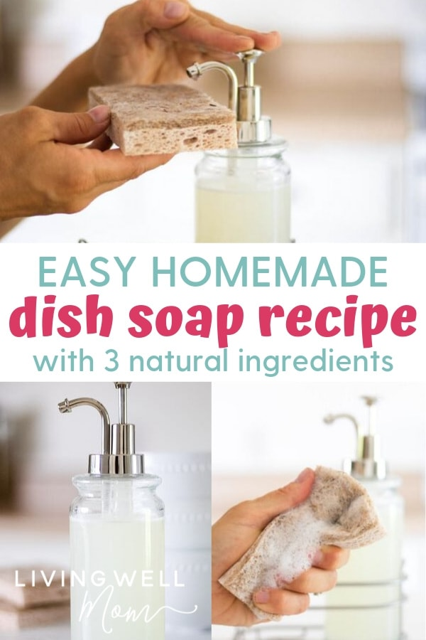 easy homemade dish soap recipe with natural ingredients