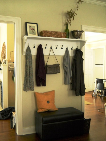 Entryway Shelf   Hooks   Living Well on the Cheap Pin It