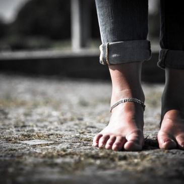 Barefoot girl