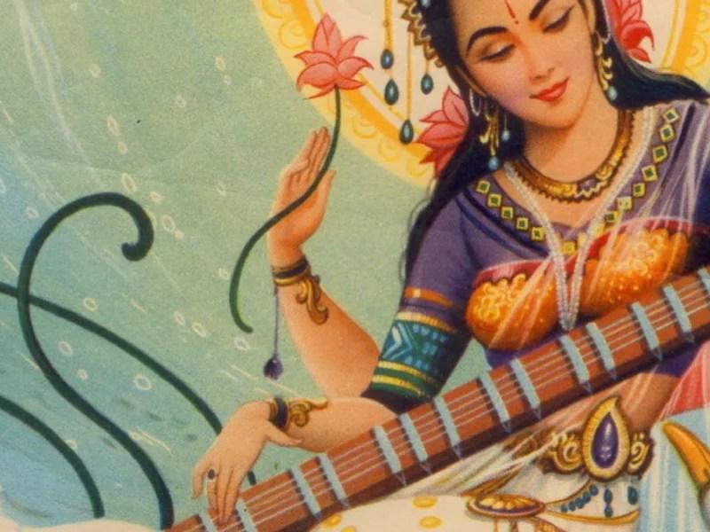Saraswati, the Vedic Goddess and River