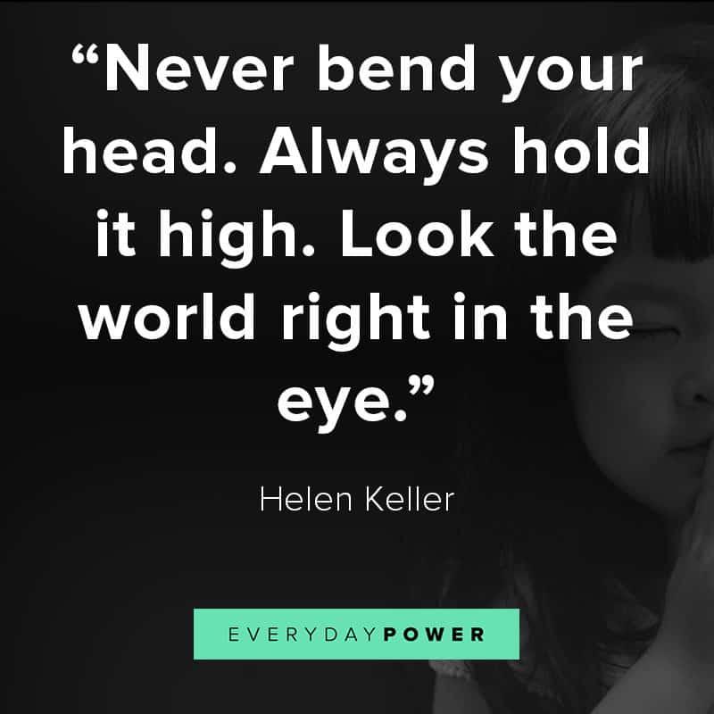 Keep your head high
