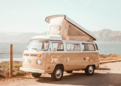 beige camper van