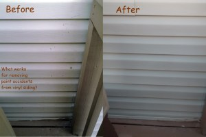 Diy Project Best Way To Get Paint Drips Off Vinyl Siding