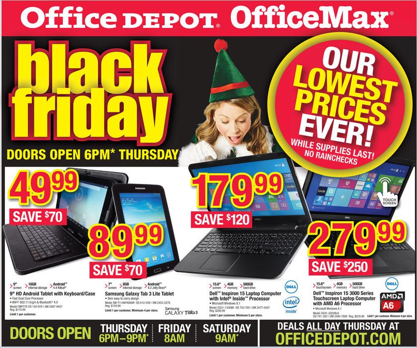 OfficeMax And Office Depot Black Friday Sales: Deals On