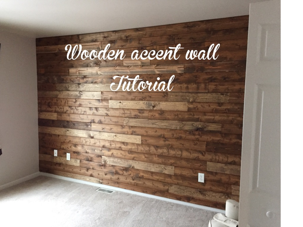 Wooden Accent Wall Tutorial Living With Lady