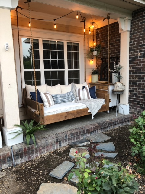 Our Diy Swing Bed Living With Lady, Patio Bed Swing