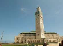 The outside of Hassan II Mosque