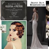 Wedding Mood Board: Silent Film Elegance