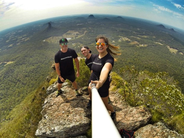 Top of Mt Beerwah, Glasshouse Mountains, Queensland, Australia