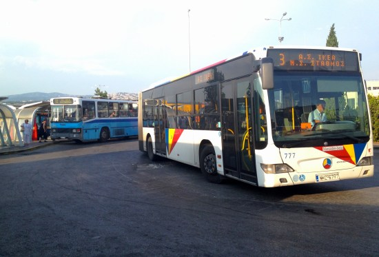 Busses in Greece