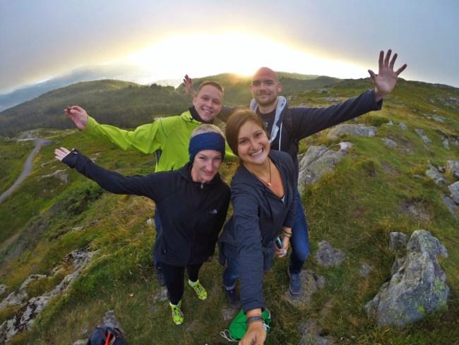 Floyen Mountain, Bergen, with Couchsurfing members