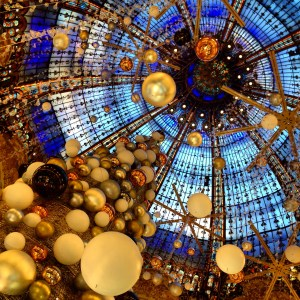 Shopping at Galeries Lafayette, Paris, France