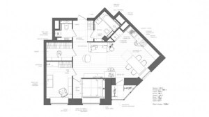 The floor plan in this apartment makes it seem as though there is actually room to spare.