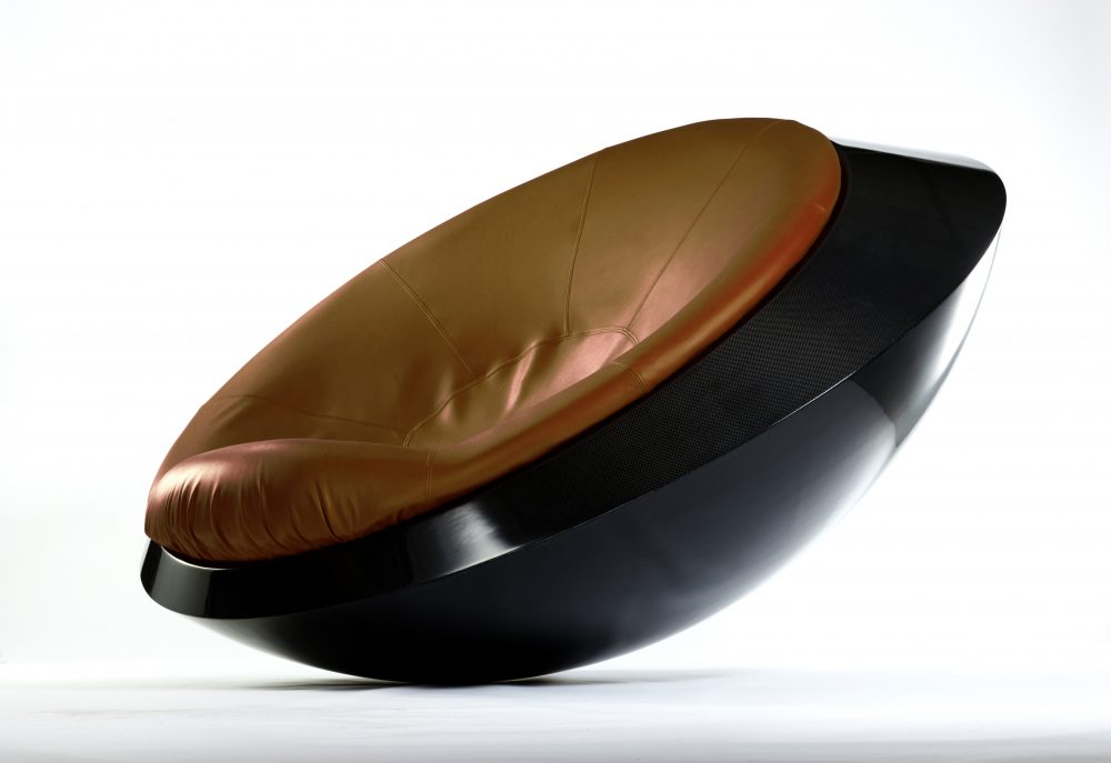 ufo rocking chair gold