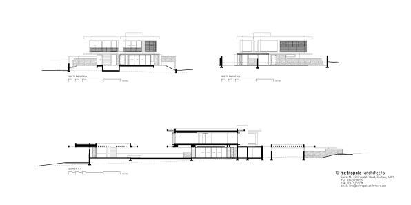 TLV HOUSE elevations and sections