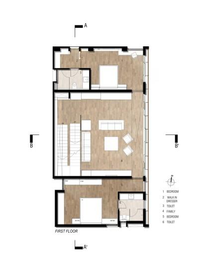 Badri Residence FIRST_FLOOR_PLAN_Architecture Paradigm
