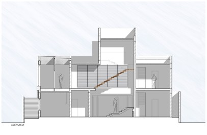 Badri Residence SECTION_AA'_Architecture Paradigm
