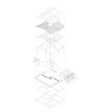 Okana community center_kenya 04_Prototype_Pavilion_Axonometry