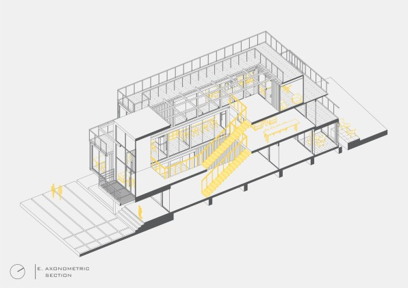Africa Fintech Foundry HQ_E._Axonometric_Section