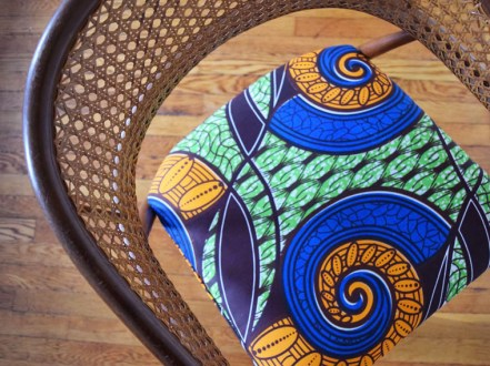 african mid centurey caned dining chairs 3