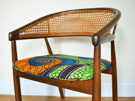 african mid centurey caned dining chairs 5