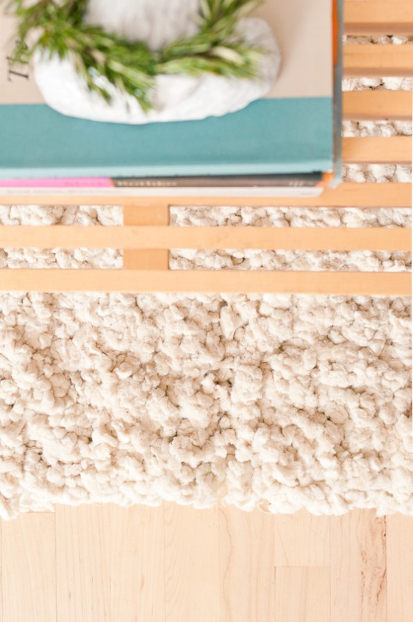 diy fluffy cotton rug 3