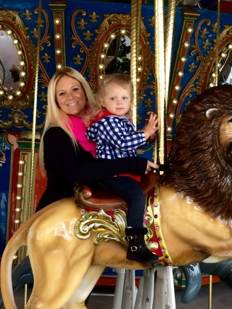 Riding the lion!