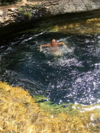 Swimming over the well
