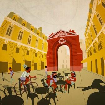 City of Bordeaux promotional illustration