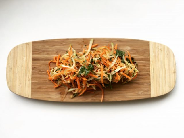 Chayote, Apple and Carrot Slaw