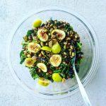 Lentil, Kale, and Green Bean Salad with Tarragon Vinaigrette