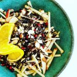 Raw Wild Rice Salad with Apple and Pomegranate