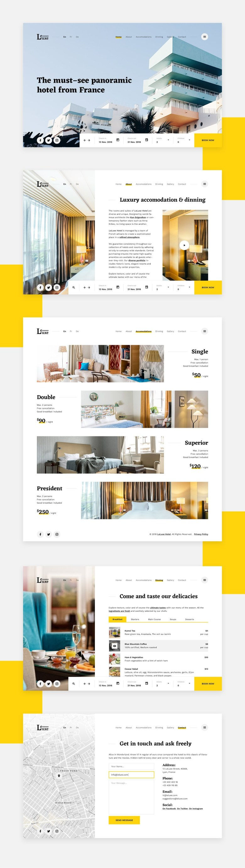 LeLuxe - Hotel PSD Template - 1