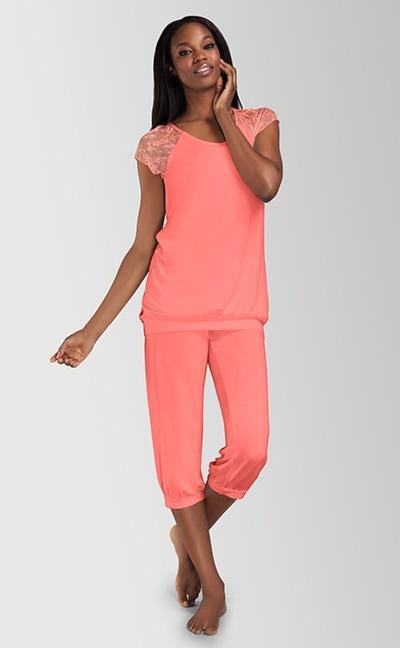 Daydream pyjamas med capri bukser - todelt nattøj
