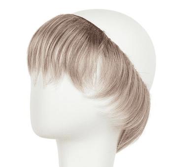 Hairpiece kort frisure i silverblonde